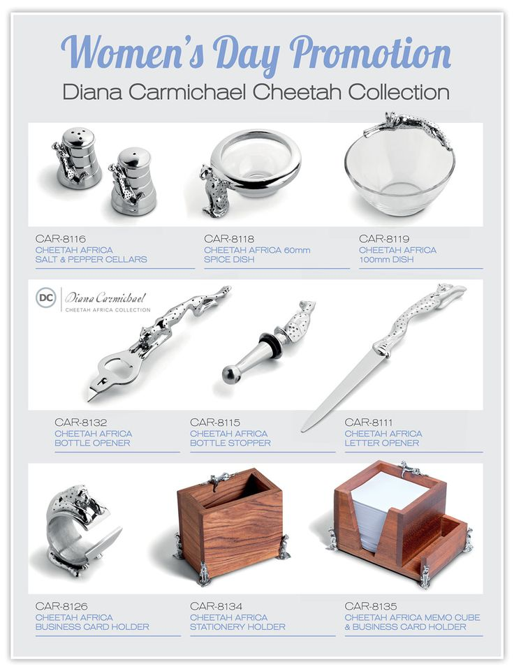Get these stunning #WomensDay gifts for Women VIP's. Diana Carmichael Cheetah Gift Collection absolutely gorgeous!