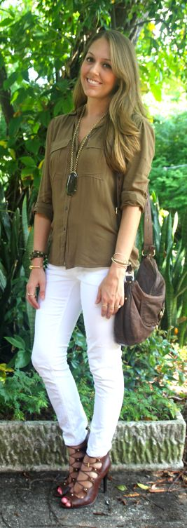 Olive tones outfit - J's Everyday Fashion, love the shoes!!!