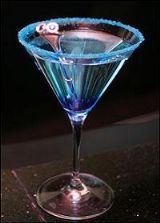 Blue Sapphire recipe - blue curacao and cranberry juice