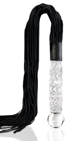 Icicles No 38 Glass Handle Cat O Nine Tails Whip