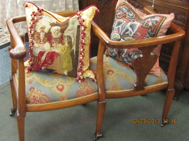 Courting Chair And Antique Hand Made Pillows