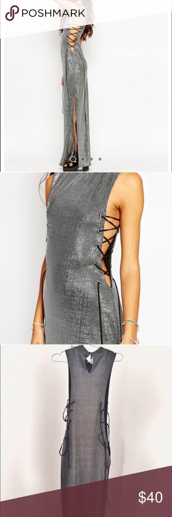 Asos jaded london metallic maxi dress !!! Metallic maxi dress super formal sexy for perfect occasion ASOS Dresses Maxi