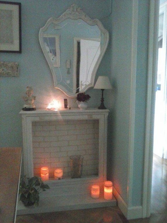 M s de 25 ideas incre bles sobre chimenea falsa en - Chimenea blanca decorativa ...