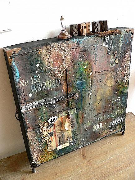 Grungy Pizza Box Canvas