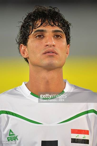 Mustafa Sameer of Iraq looks on during the FIFA U17 World Cup group F match between Iraq and Sweden at Khalifa Bin Zayed Stadium on October 19 2013...
