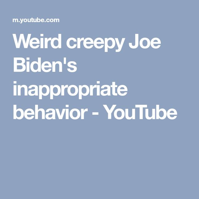 Weird creepy Joe Biden's inappropriate behavior - YouTube