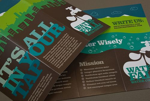 Graphic Water Company Brochure  by inkdphotos, via Flickr