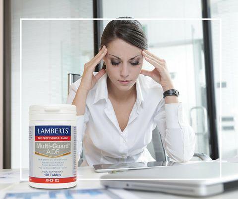 Δύσκολη εβδομάδα; Αντιμετώπισε την ψυχολογική και σωματική κόπωση, με την μοναδική πολυβιταμίνη Multi – Guard ADR της Lamberts. https://www.i-cure.gr/lamberts-multi-guard-adr-120tabs-mia-aristi-formoyla-polyvitaminon-kai-anorganon-systatikon?search=adr