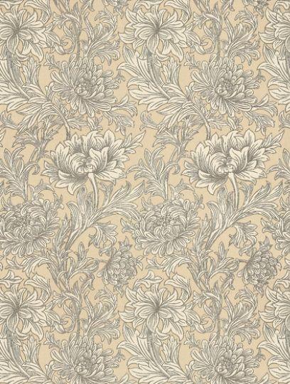 Morris and Co Chrysanthemum Toile Wallpaper - DMOWCH103