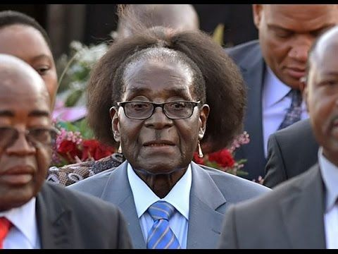 Robert 'Mad Bob' Mugabe - notorious dictator, human rights abuser and anti-white racist.