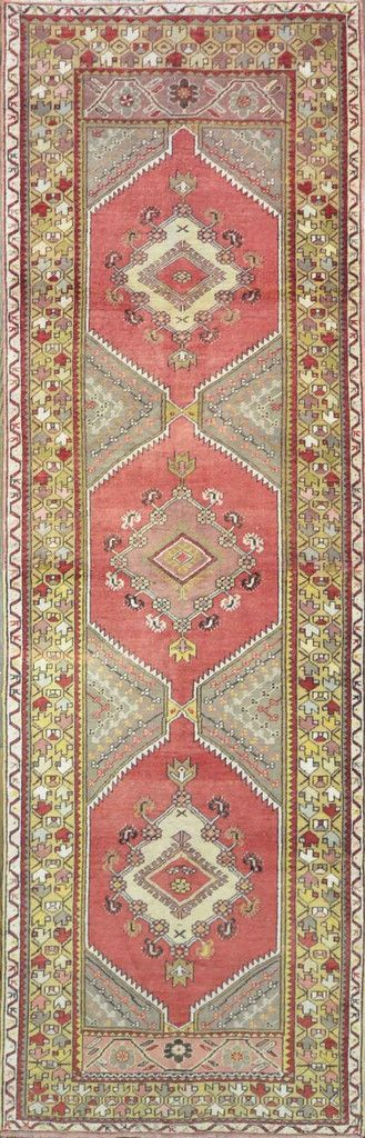 """Carpet Culture - TURKISH OLD RUNNER - 3' - 4"""" X 10' - 3""""  - A 020"""