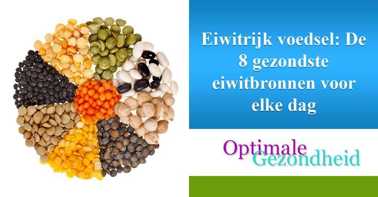 Eiwitrijk voedsel: De 8 gezondste eiwitbronnen voor elke dag Je wilt spieren opbouwen, je lichaam tonen of gewoonweg gezond en fit blijven. Voldoende eiwit binnenkrijgen is dan van essentieel belang. Hoewel we eigenlijk maar ongeveer 5% eiwit nodig hebben per dag, is het beter om minimaal 10
