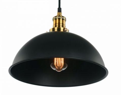 Taklampa kupol retro - Mässing och svart i gruppen Lampor / Taklampor hos Reforma Sthlm (RH487)