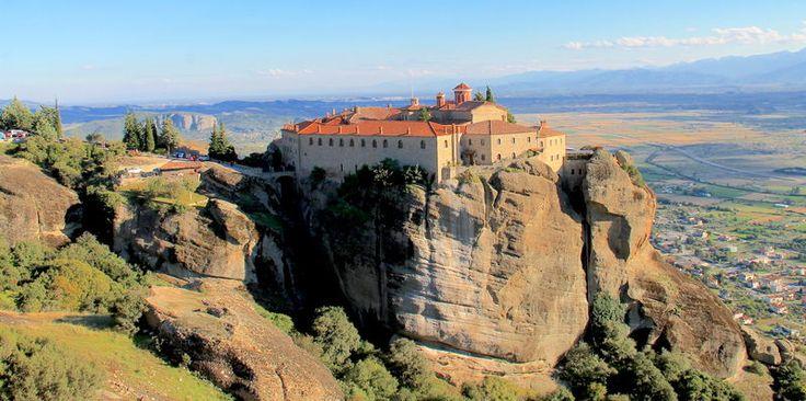 Grecja, Meteory - widok na Klasztor Świętego Stefana