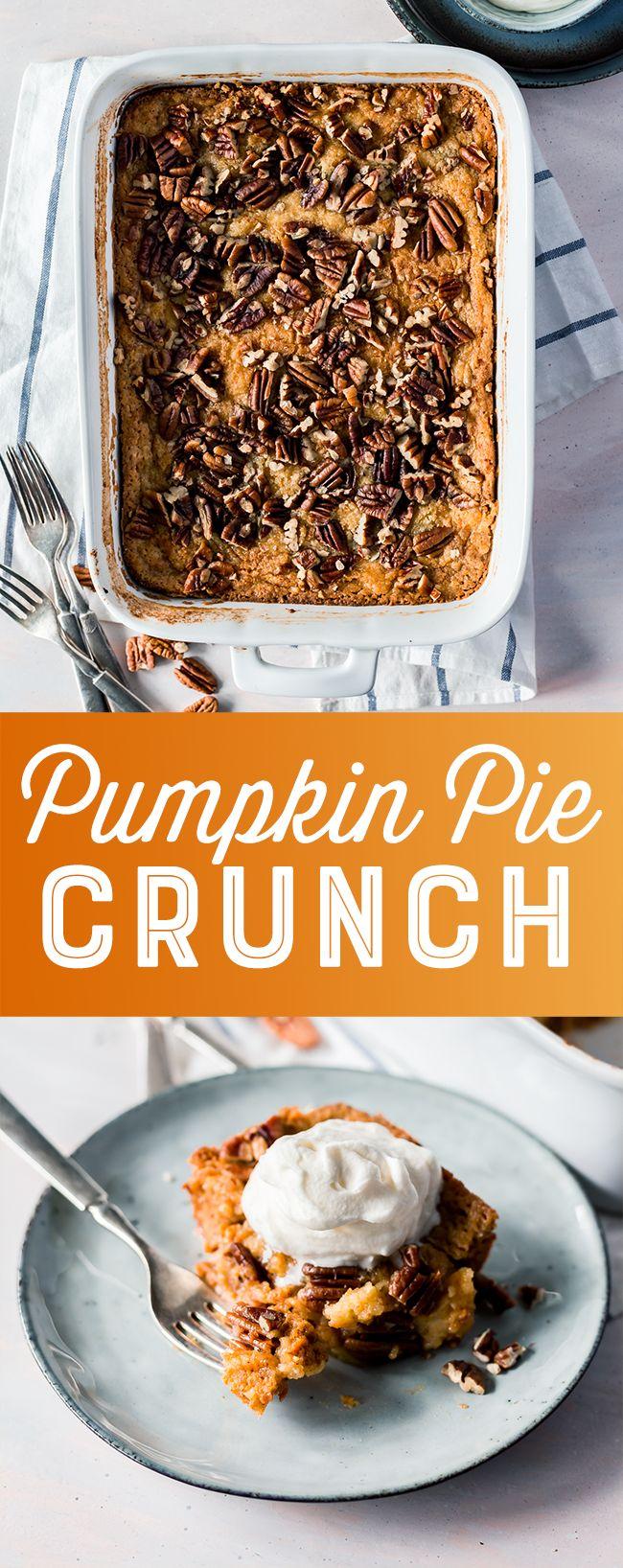 Pumpkin Pie Crunch Recipe - This simple pumpkin du…