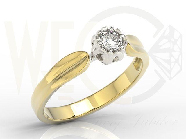 Pierścionek zaręczynowy w kształcie konwalii / Engagement ring with the shape of Cornwall / 3839 PLN / #gold #ring #cornwall #girly #engagement #fiance