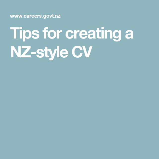 Tips for creating a NZ-style CV