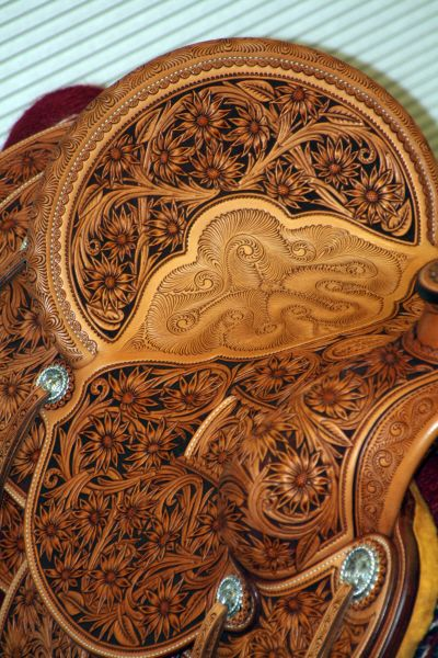 Love the detail of this saddle ! ~ Rick Bean Leather Artisan