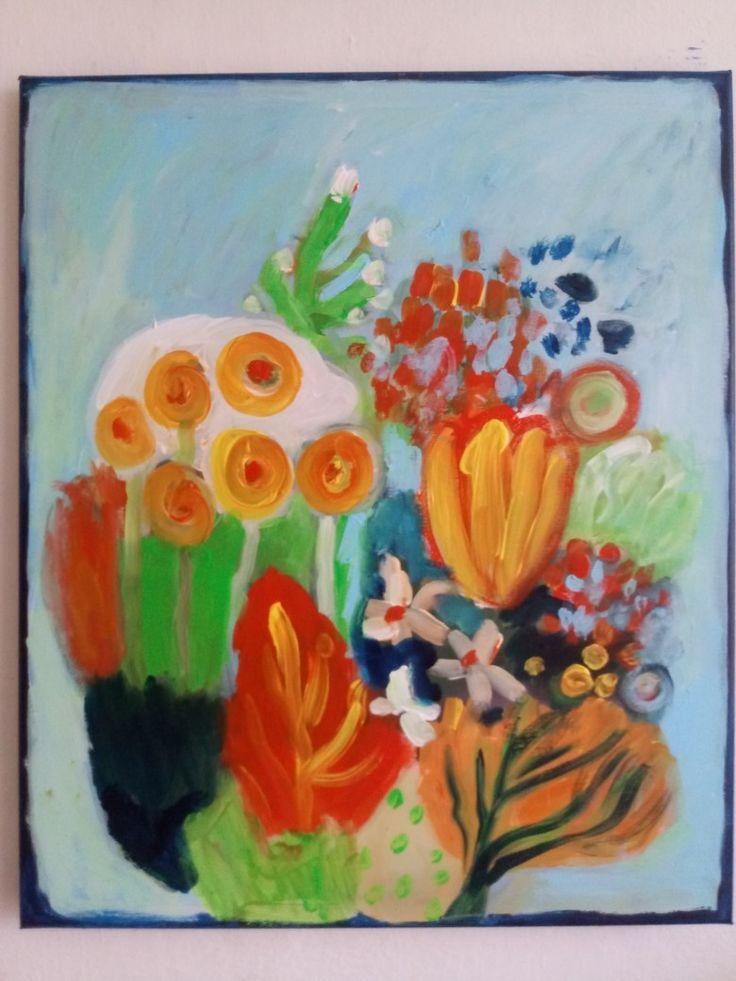 #kobus#malgo#abstract#painting#malarstwo#garden