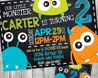 invitación de monstruo, invitación de cumpleaños de monster, invitación de fiesta de monster, monster cumpleaños, invitación de la pizarra, personalizada, para imprimir