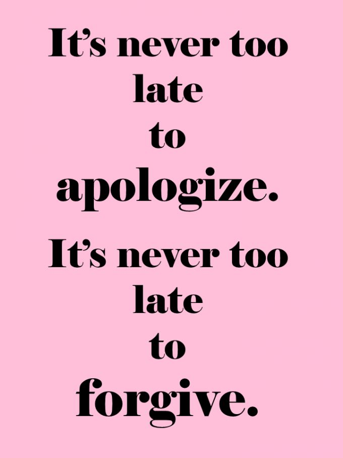apologies are awesome