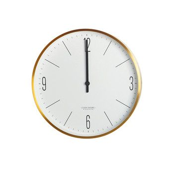Wall Clock - Gold/White