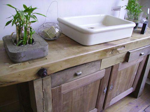 campagne chic relooker avant aprs petite maison salle de bain douche vieux bricolage cuisine - Meuble Cuisine Dans La Salle De Bain