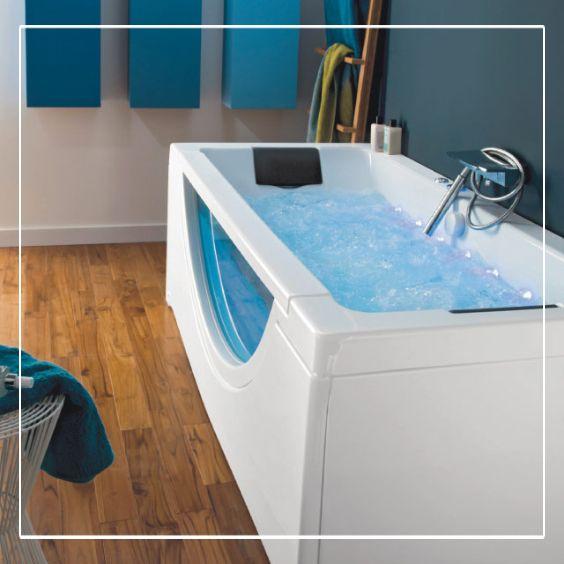 Qui n a jamais r v d avoir un spa domicile avec la baignoire baln o aqua - Spa baignoire balneo ...