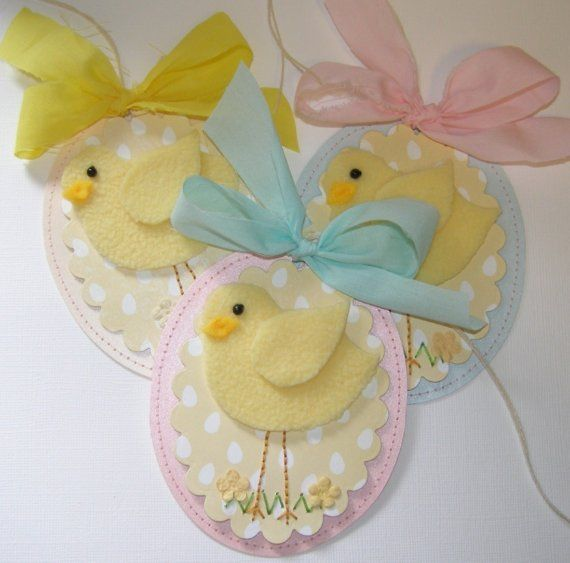 Little Chick Spring Felt Tags