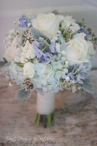 White and Blue Bouquet http://www.mybigdaycompany.com/weddings.html