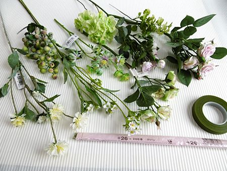 花冠の簡単な作り方:はじめての造花アレンジ