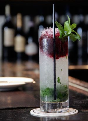 The Judson: aged rum, lime, sugar, mint, LAMBRUSCO