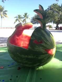 Narwhal watermelon boat - Ahoy it\'s a Boy baby shower | Narwhal ...