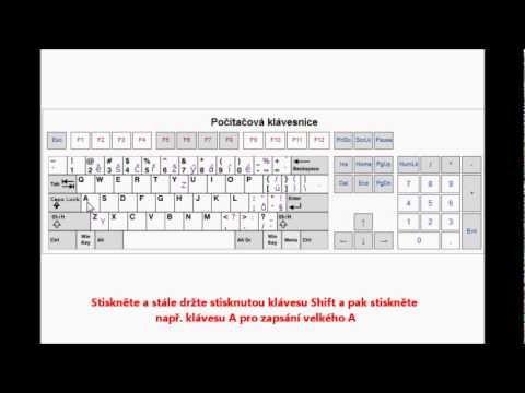 Senioři na počítači - malá a velká písmena - YouTube
