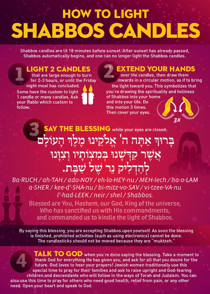 This card explains how to light Shabbos candles. Includes: - Instructions for setup - Blessing in Hebrew and English, with transliteration - Explanation for why we light candles before Shabbos - Explanation why lighting Shabbos candles is a special mitzvah for women  This card is 5x7