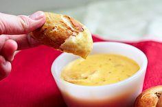 Best soft pretzel dip! Cheese and Garlic dip