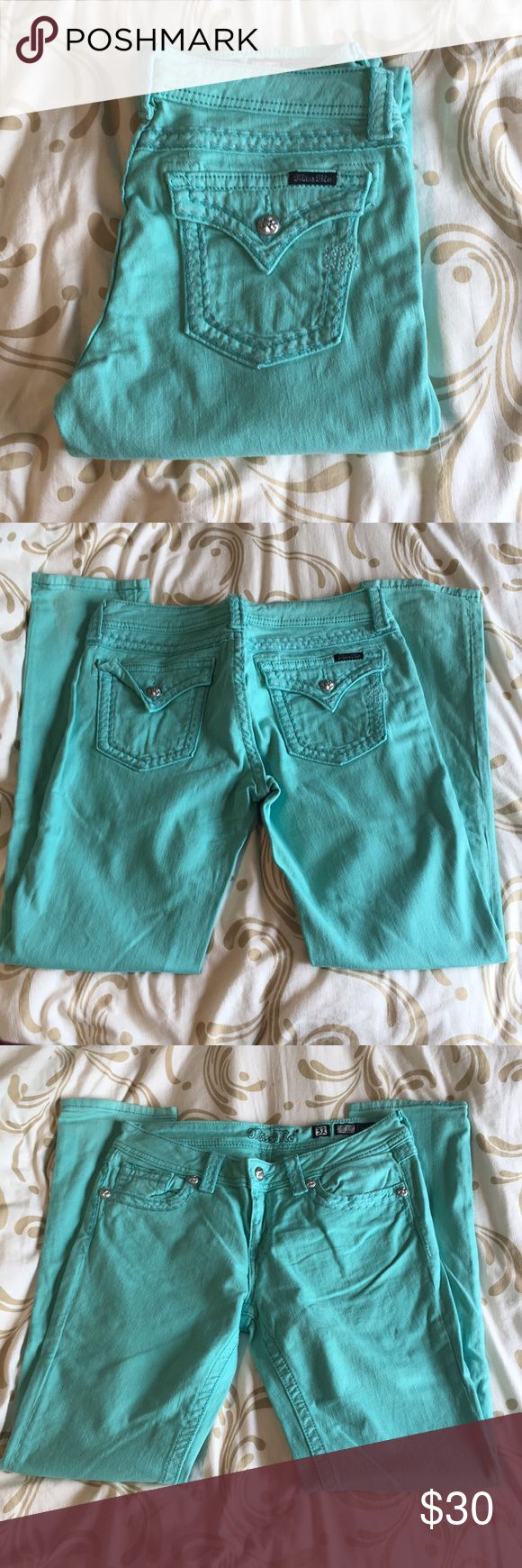 Miss Me Teal Skinny Jeans Teal, size 27,  inseam 32, make me an offer Miss Me Jeans Skinny