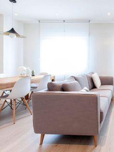 Una vivienda de estilo nórdico en Madrid | Pinterest | Salon comedor ...