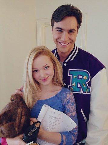 Liv and Maddie co-stars Dove Cameron and Ryan McCartan...