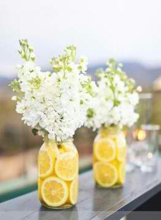 Décoration florale pour centre de tables de mariage