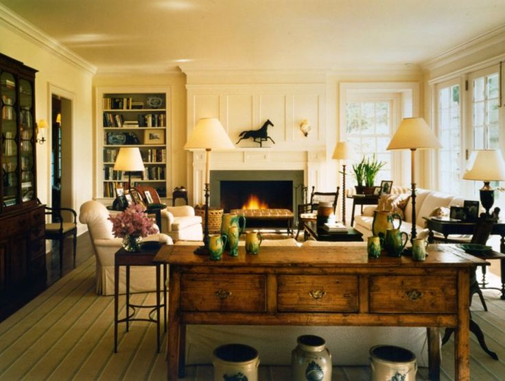 mark hampton design in a robert stern house, c. 1993
