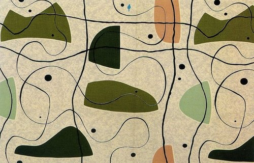 Modernist Textiles | 1950's & Henry Moore - AnotherDesignBlog.
