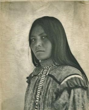 Daughter of Cochise, the Apache Scout that negotiated the surrender of Geronimo - White Mountain Apache - descendant of Athabascan progenitors, circa 1910