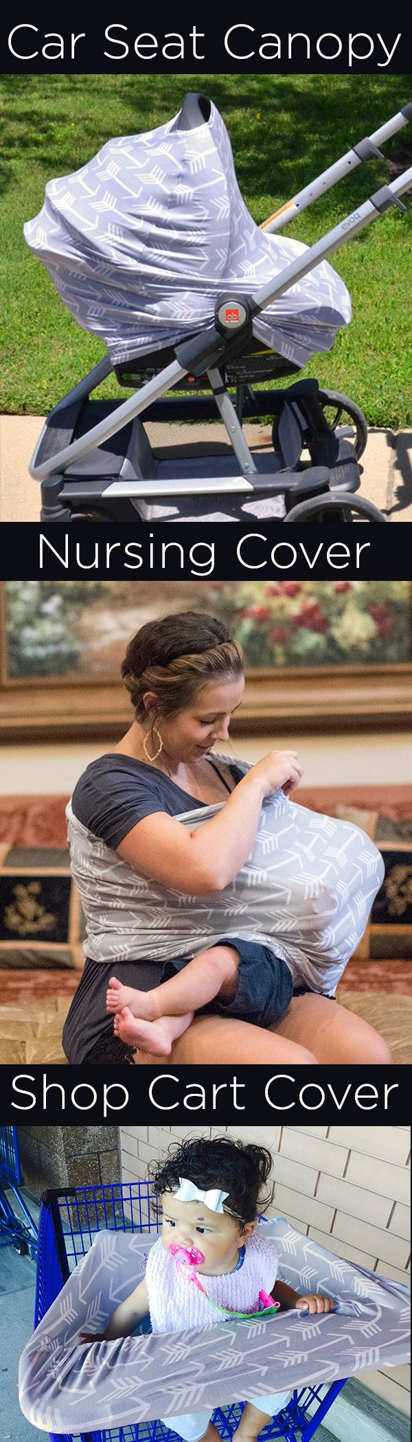 Multi-Use Car Seat Canopy, Nursing/ Breastfeeding Cover, and Shopping Cart Cover https://www.amazon.com/Stretchy-Carseat-Shopping-Infinity-Breastfeeding/dp/B01CTOACOI?m=A3PYMCL43VTCQ2 Now available on Amazon with FREE Prime Shipping!