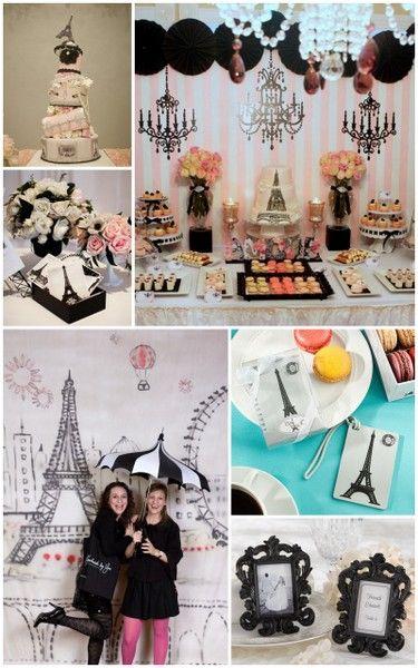 Paris Themed Bridal Shower Inspiration and Party Favors Ideas from HotRef.com #Paristheme
