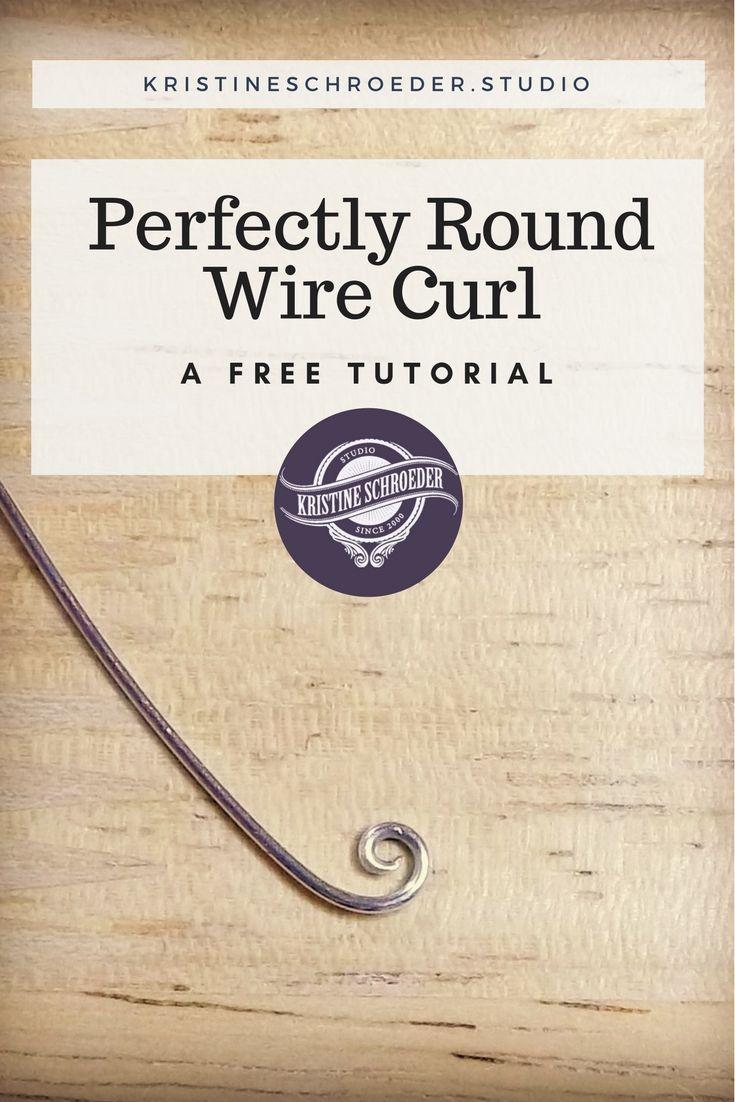 How To Make Round Wire Curls | Kristine Schroeder Studio