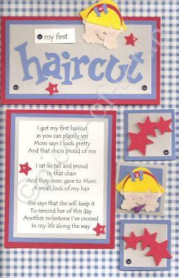 1st haircut scrapbook poem crafts pinterest for My first haircut certificate template