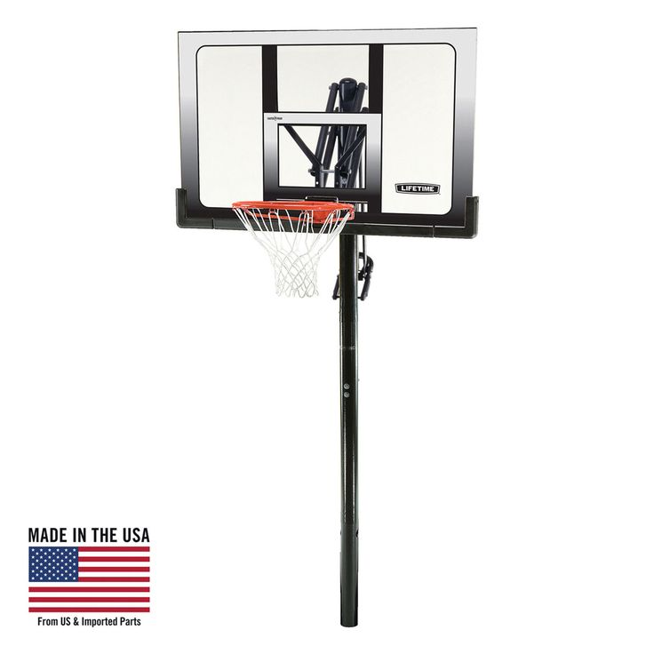 "Basketball System 52"" Shatterproof In Ground Adjustable Kids Outdoor Sport New"