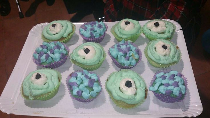 Cumple monstruífico: muffins Monster Birthday Party - Inma Torrijos' sister