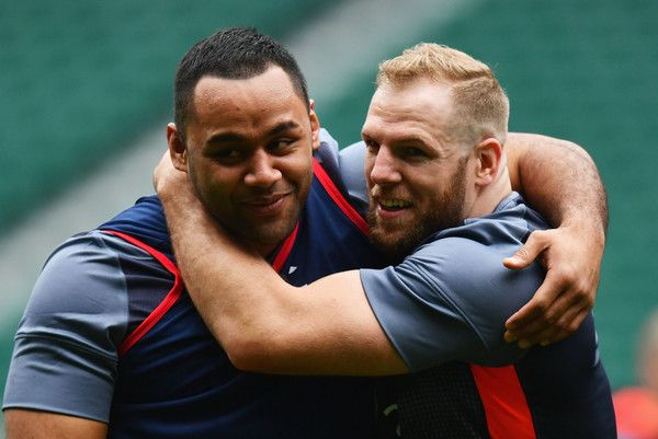James Haskell Photos Photos - Billy Vunipola and James Haskell of England embrace during the England Captain's Run on the eve of the RBS 6 Nations match against Scotland at Twickenham Stadium on March 10, 2017 in London, England. - England Captain's Run